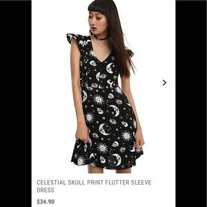 Celestial moon sun dress NWOT small medium XL